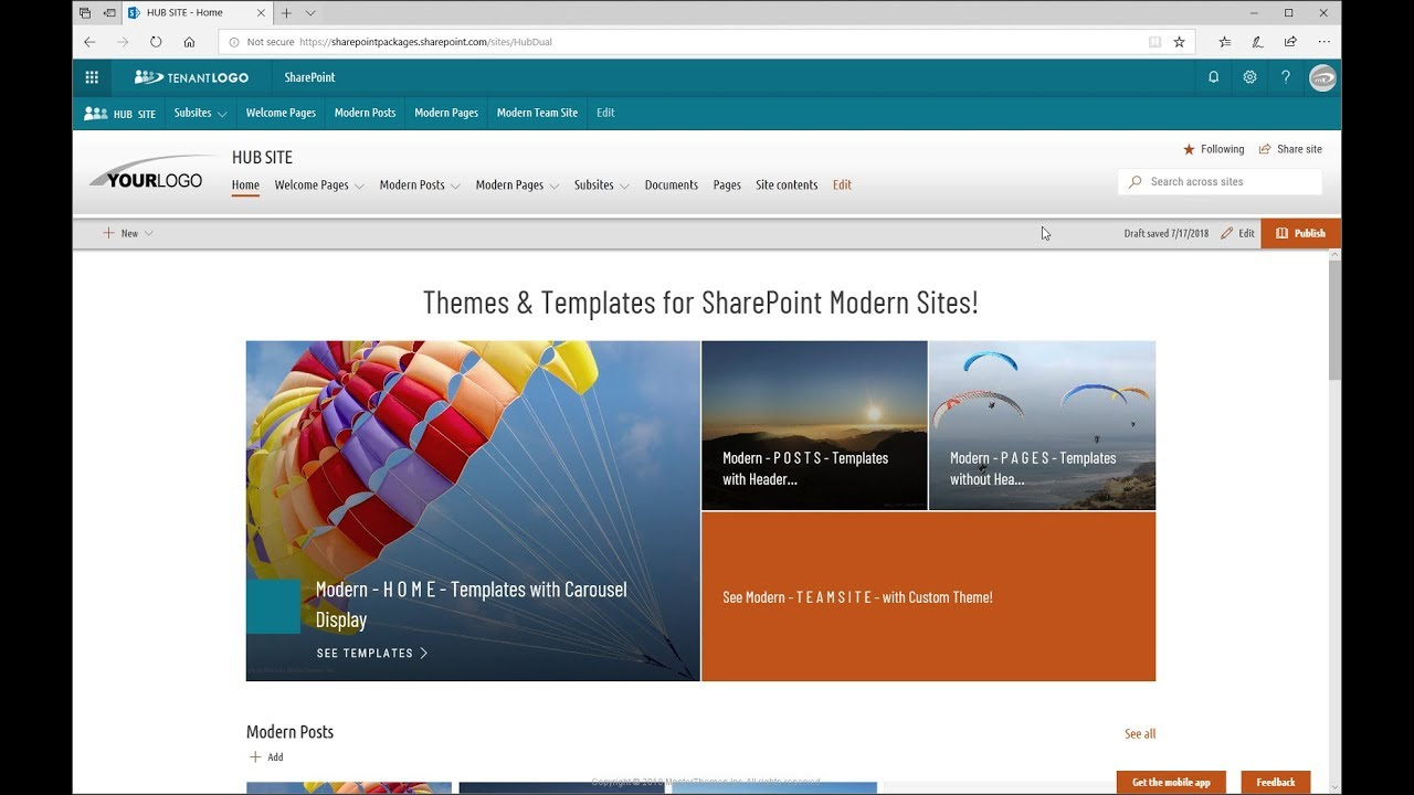 Modern Theming SPFx Solution   SharePoint Online - Modern Themes and  Templates