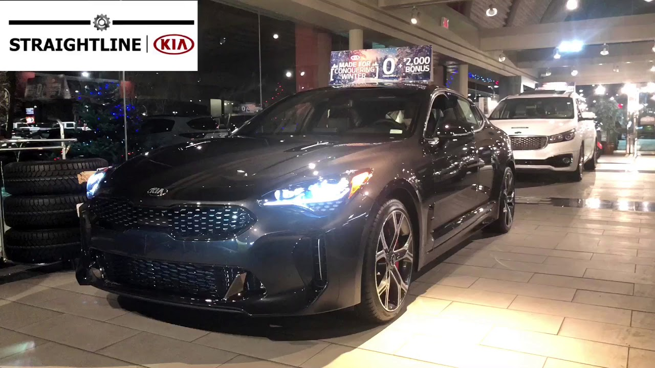 2018 Kia Stinger GT Limited Thunder Grey - YouTube