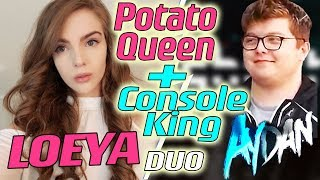 POTATO QUEEN meets CONTROLLER KING - LOEYA and AYDAN playing Fortnite Battle Royale