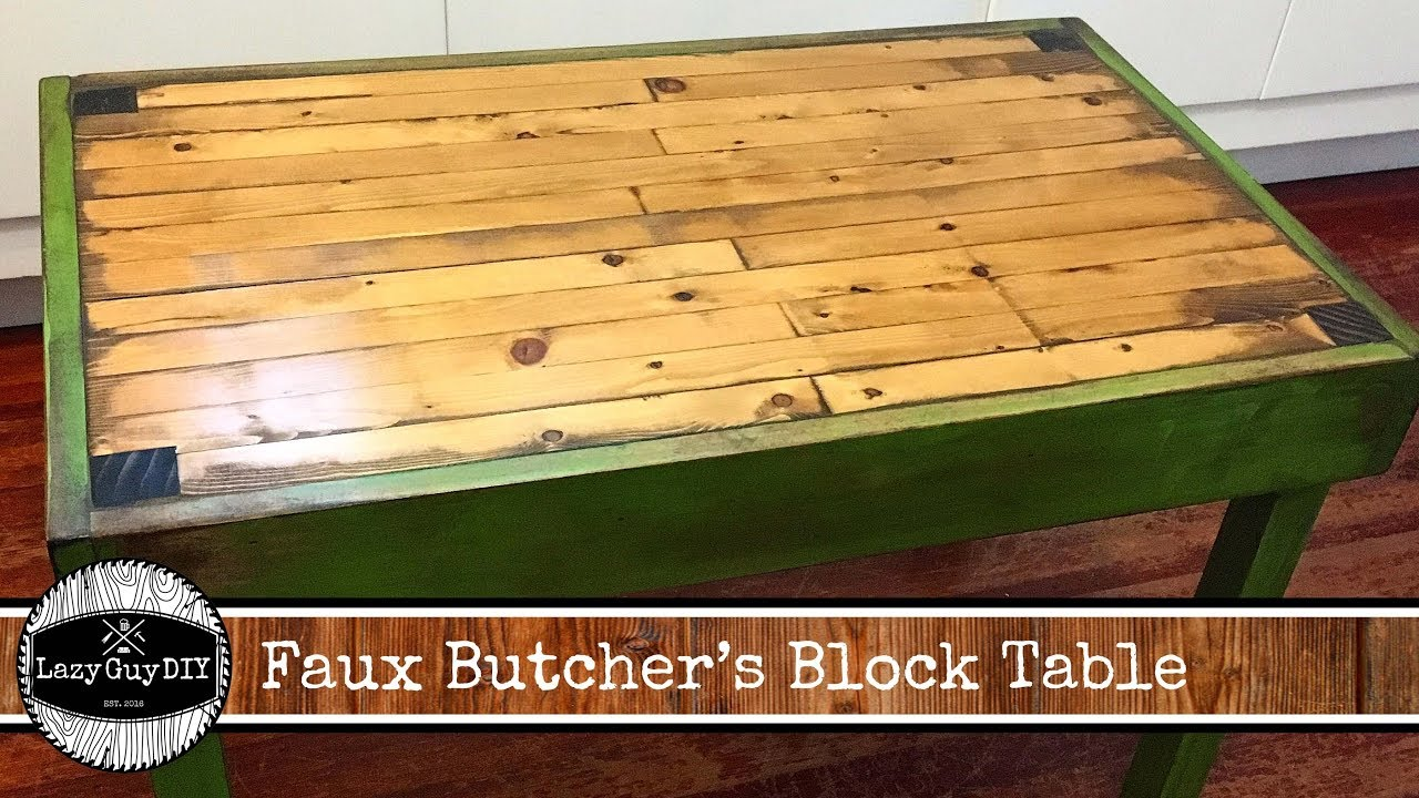 Lazy Guy Diy Presents Faux Butcher Block Children S Table Youtube