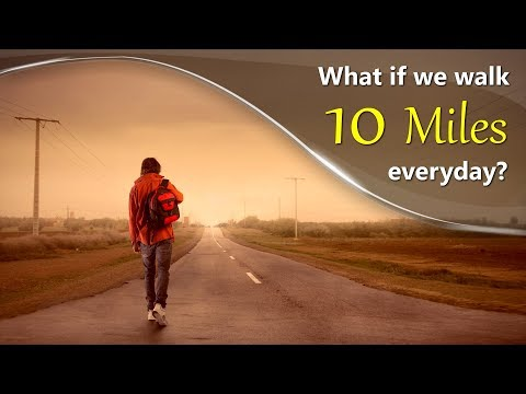 What if we Walk 10 miles every day? | #aumsum