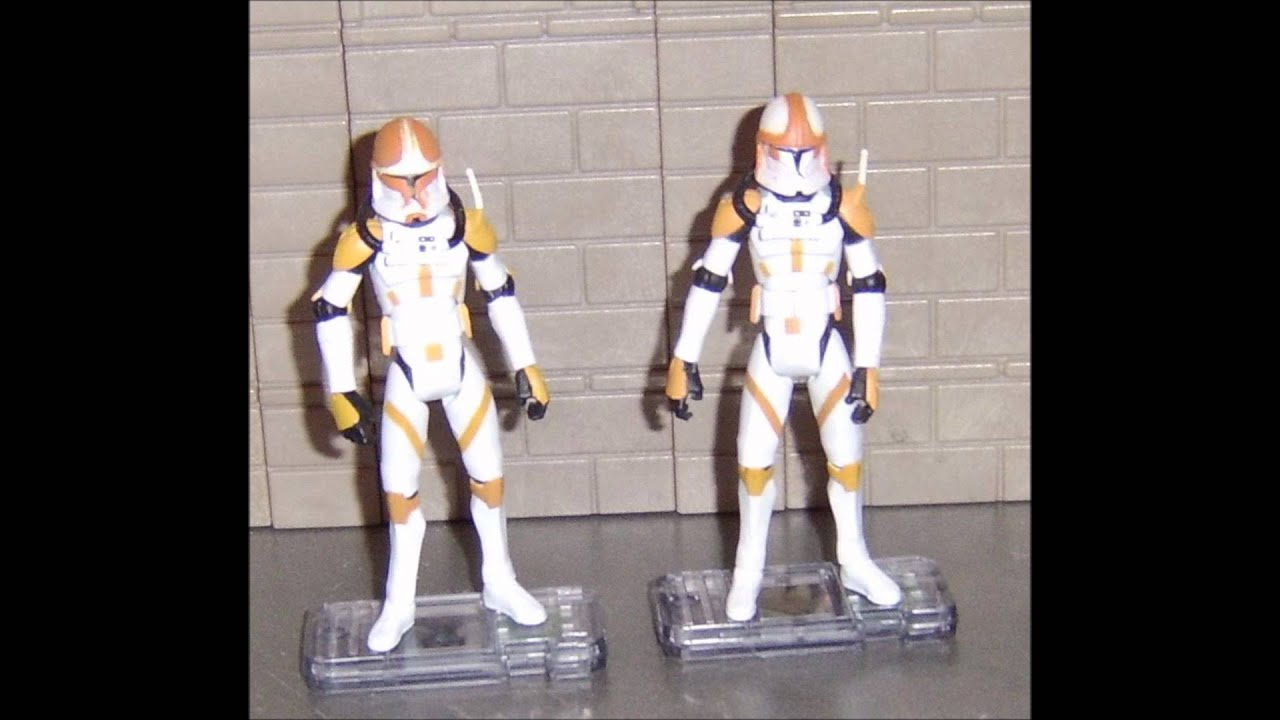 custom star wars clone wars action figures clone troopers youtube