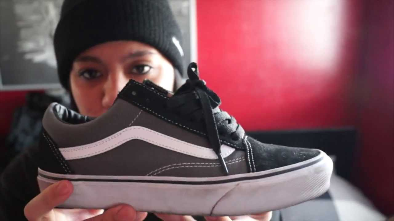 Vans Old Skool Black Pewter Shoe Review + On Feet - YouTube df8d88173
