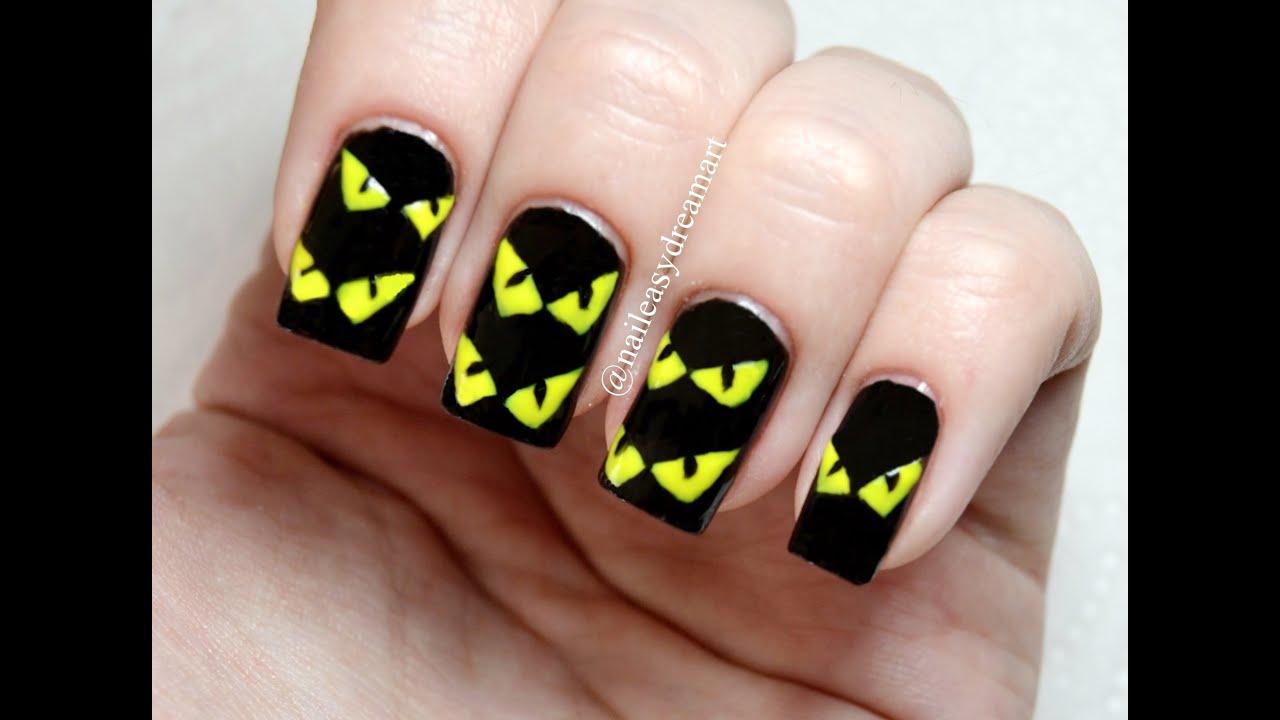 Halloween Nail Art Tutorial | DIY Halloween Nails | Дизайн ...