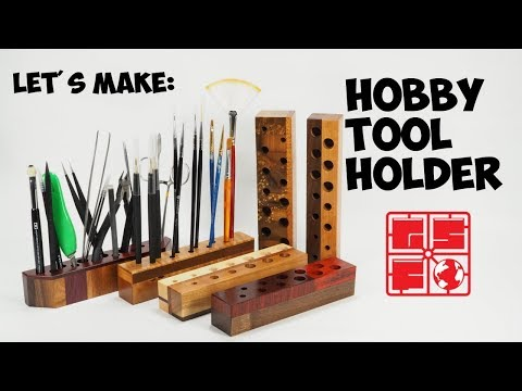 Let's Make: Awesome Hobby Tool Holder from Scrap Wood