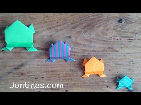 Tutorial de cómo hacer una Rana Origami para niños