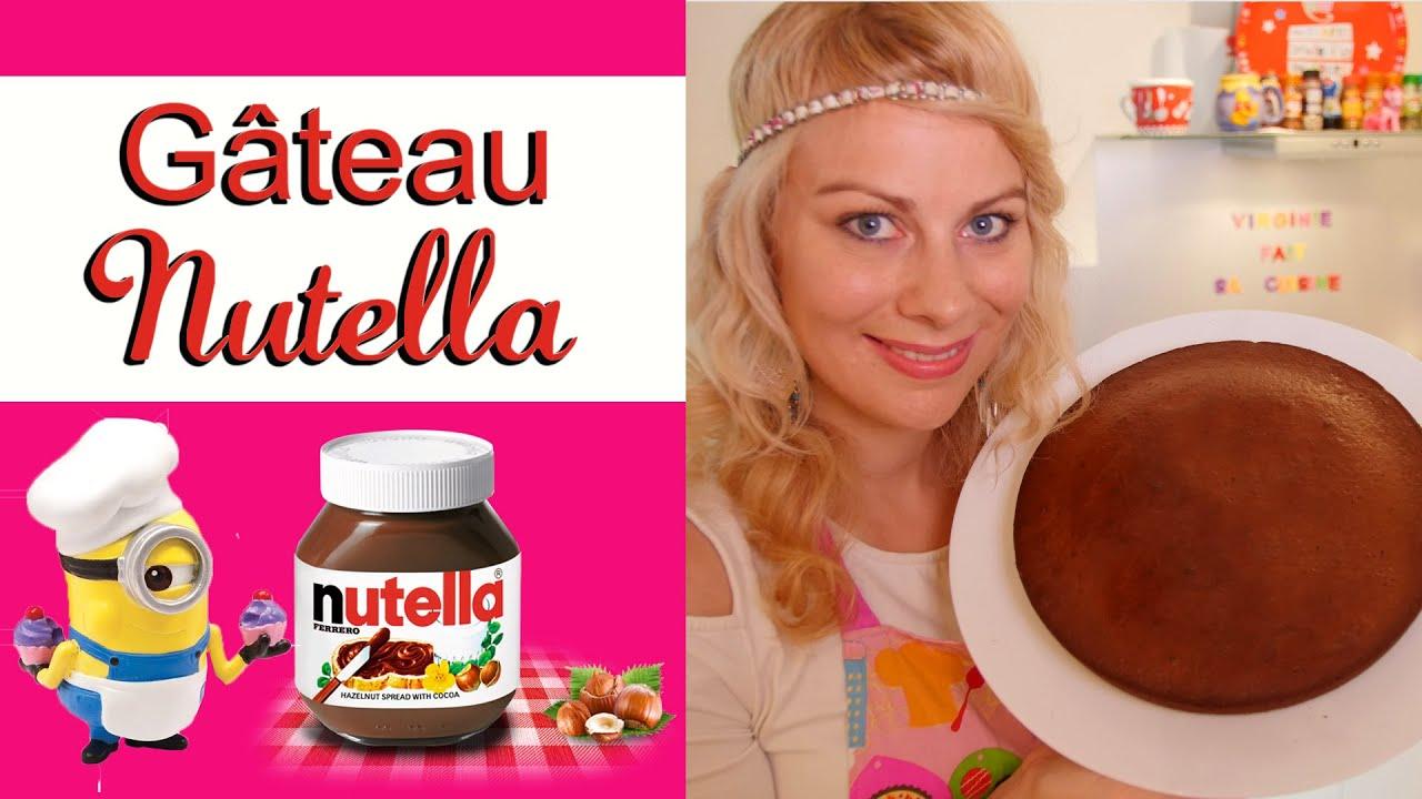 G teau au nutella recette de cuisine facile et rapide virginie fait sa cuisine 22 youtube - Virgine fait sa cuisine ...