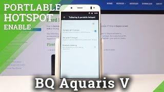 كيفية إنشاء نقطة ساخنة محمولة في BQ Aquaris V - Wi-Fi Hotspot