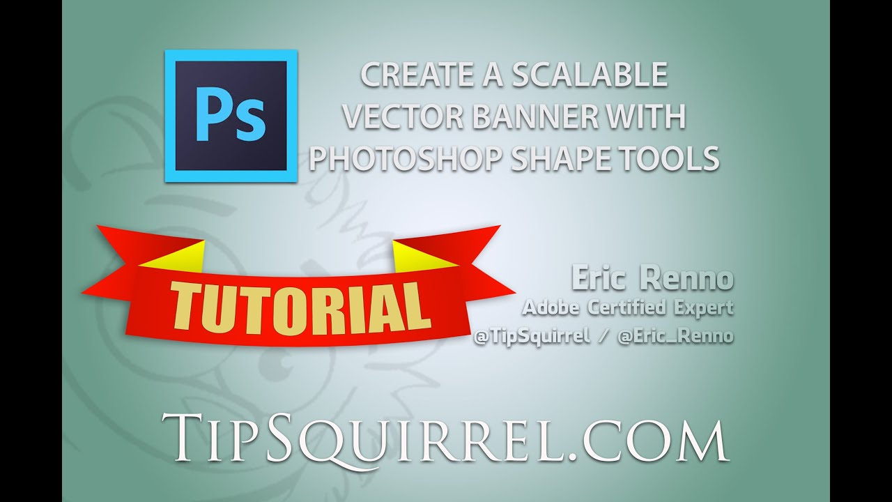 Create a scalable vector banner or ribbon in photoshop youtube create a scalable vector banner or ribbon in photoshop baditri Image collections