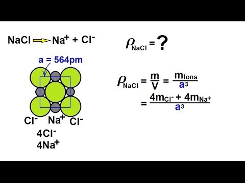 Chemistry - Liquids and Solids (38 of 59) Crystal Structure: Ionic - Density Travel Video