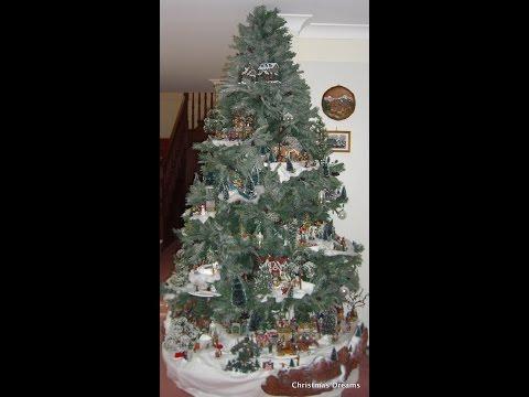 Lemax Christmas Tree Display #2: A Lemax Village display in an 8 ft Christmas tree