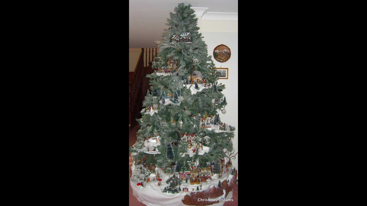 Lemax Christmas Tree Display #2: A Lemax Village display in an 8 ...