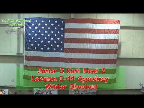 Junior 2 Kart Heat 2  I 44 Speedway Winter Shootout 1 20 2018