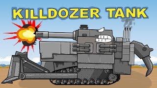 """Killdozer Tank"" Cartoons about tanks"