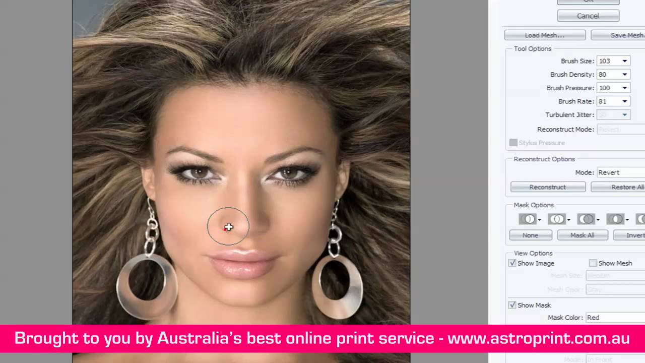 photoshop how to change face sizes