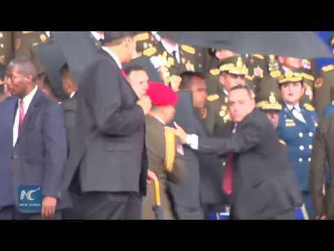 Explosion Moment: Venezuelan President Maduro unharmed after attack
