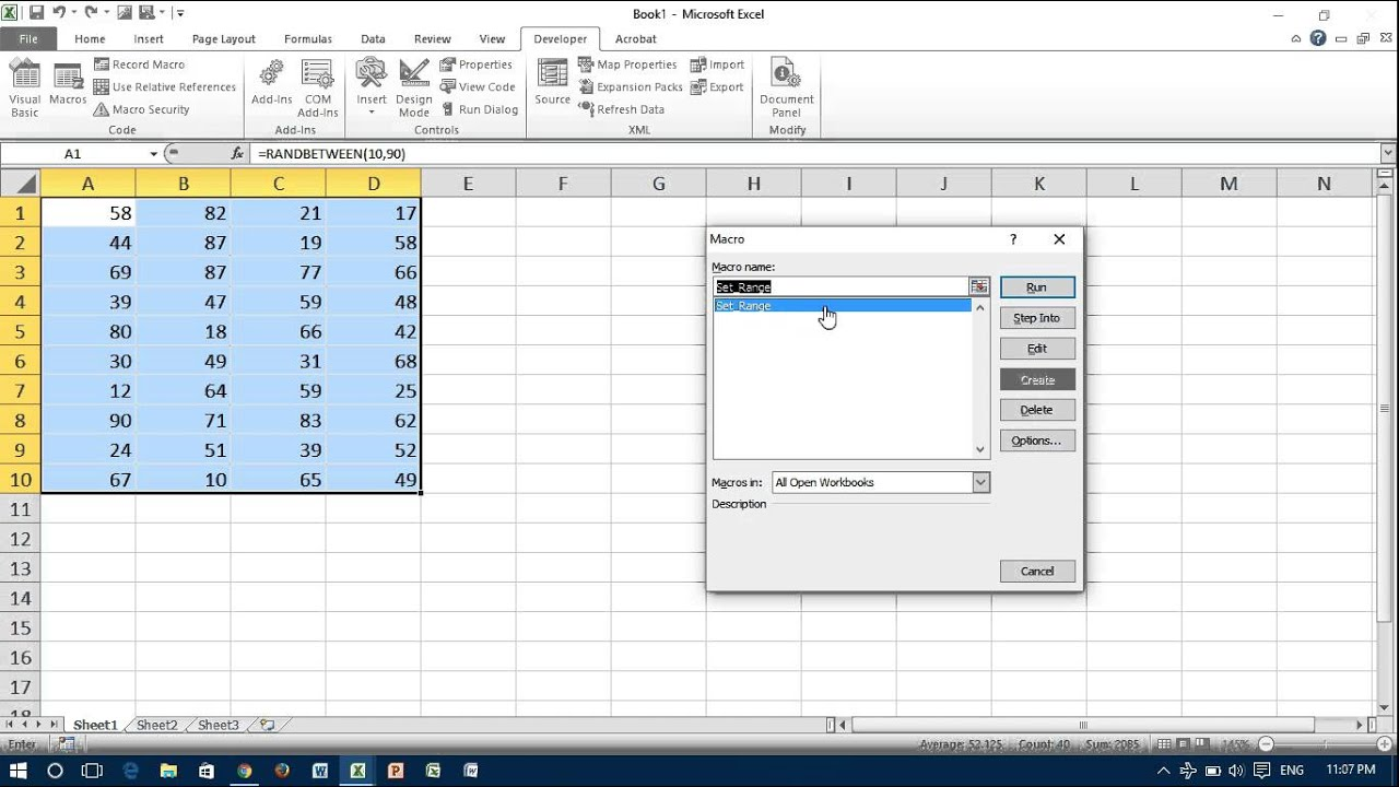 Range In Excel ~ Excel vba add ranges together tutorial find the