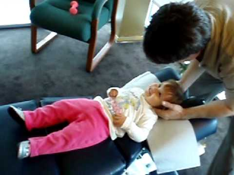 West Hollywood Chiropractor on a Baby Adjustment