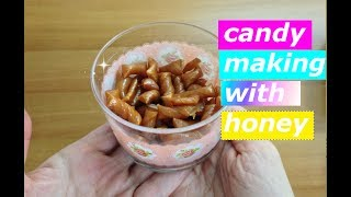HOW TO MAKE  CANDY WITH HONEY-HEALTHY SUGAR FREE (NO GRANULATED SUGAR) DIET CANDY