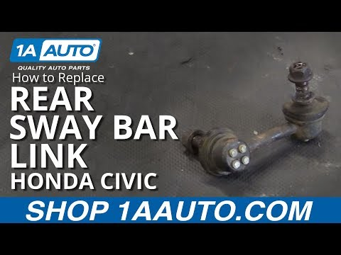 How to Replace Rear Sway Bar Link 01-05 Honda Civic