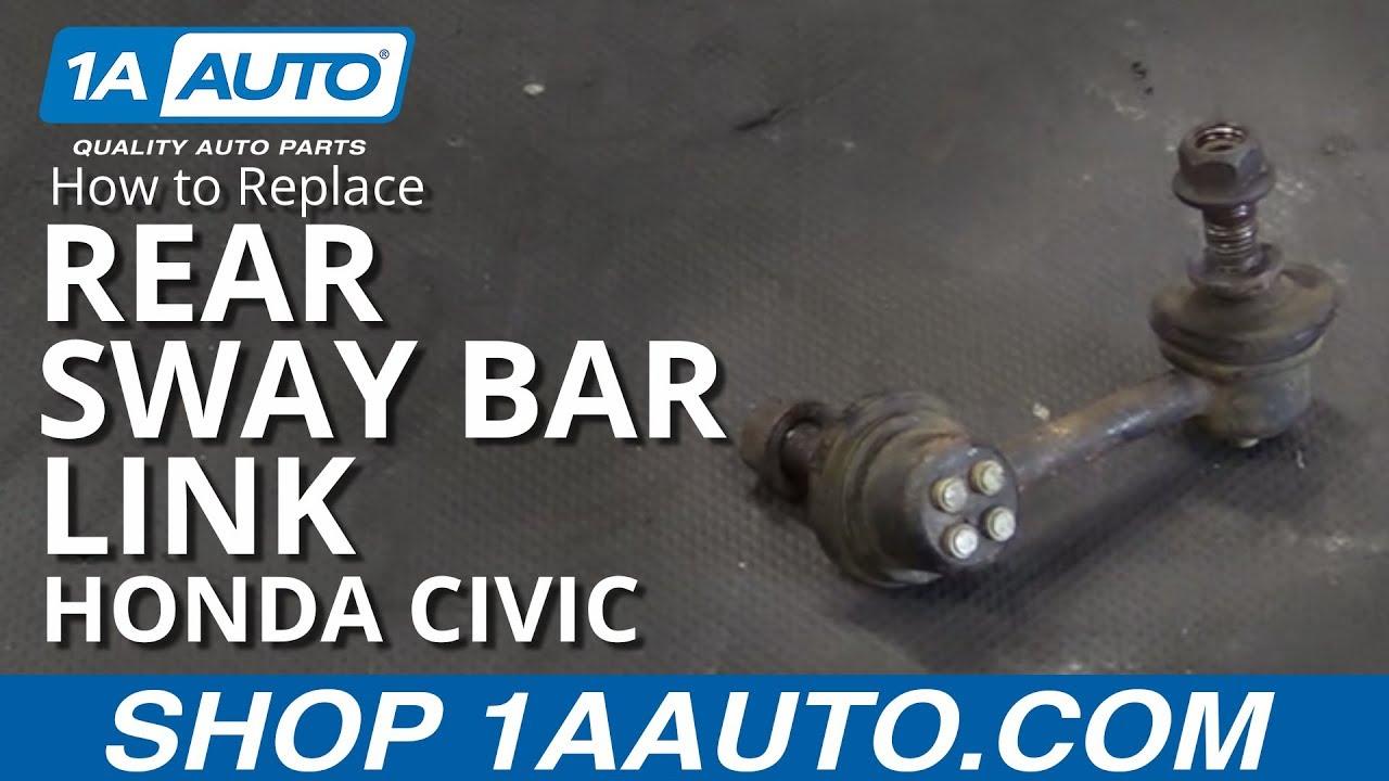 New Honda Accord >> How to Replace Rear Sway Bar Link 01-05 Honda Civic - YouTube