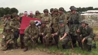 WW2 reenactment demo at War and Peace Show 2015 Band of Brothers