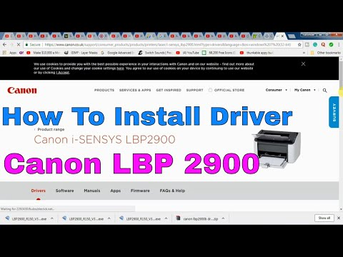 HOW TO DOWNLOAD AND INSTALL CANON LBP 2900 PRINTER DRIVER ON WINDOWS 10, WINDOWS 7 AND WINDOWS 8