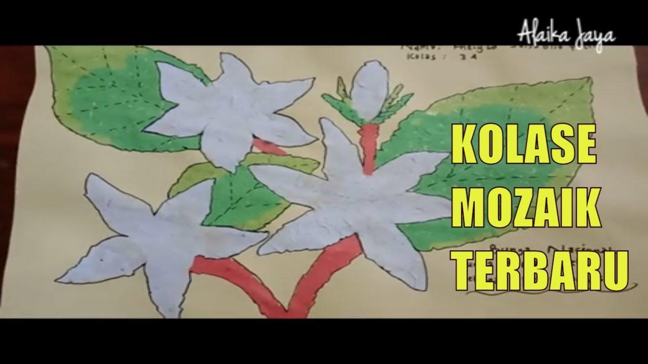 Kreasi Mozaik Kertas Dan Kolase Biji Bijian Youtube