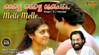 Melle Melle Full Video Song |  HD |  Oru Minnaaminunginte Nurungu Vettam Movie Song | REMASTERED |