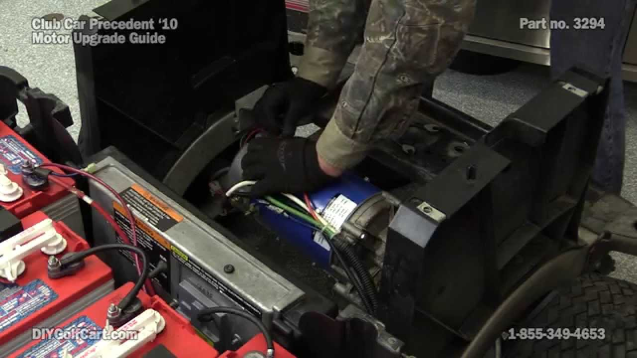Club Car Precedent High Speed Motor Upgrade | How to Install on Golf Cart  YouTube