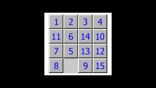 Игра Пятнашки прохождение / 15 Puzzle