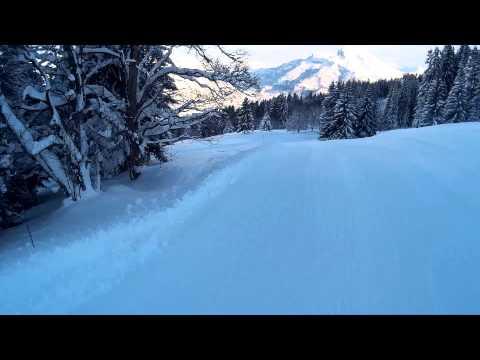 St Gervais -  Princess gondola blue slope