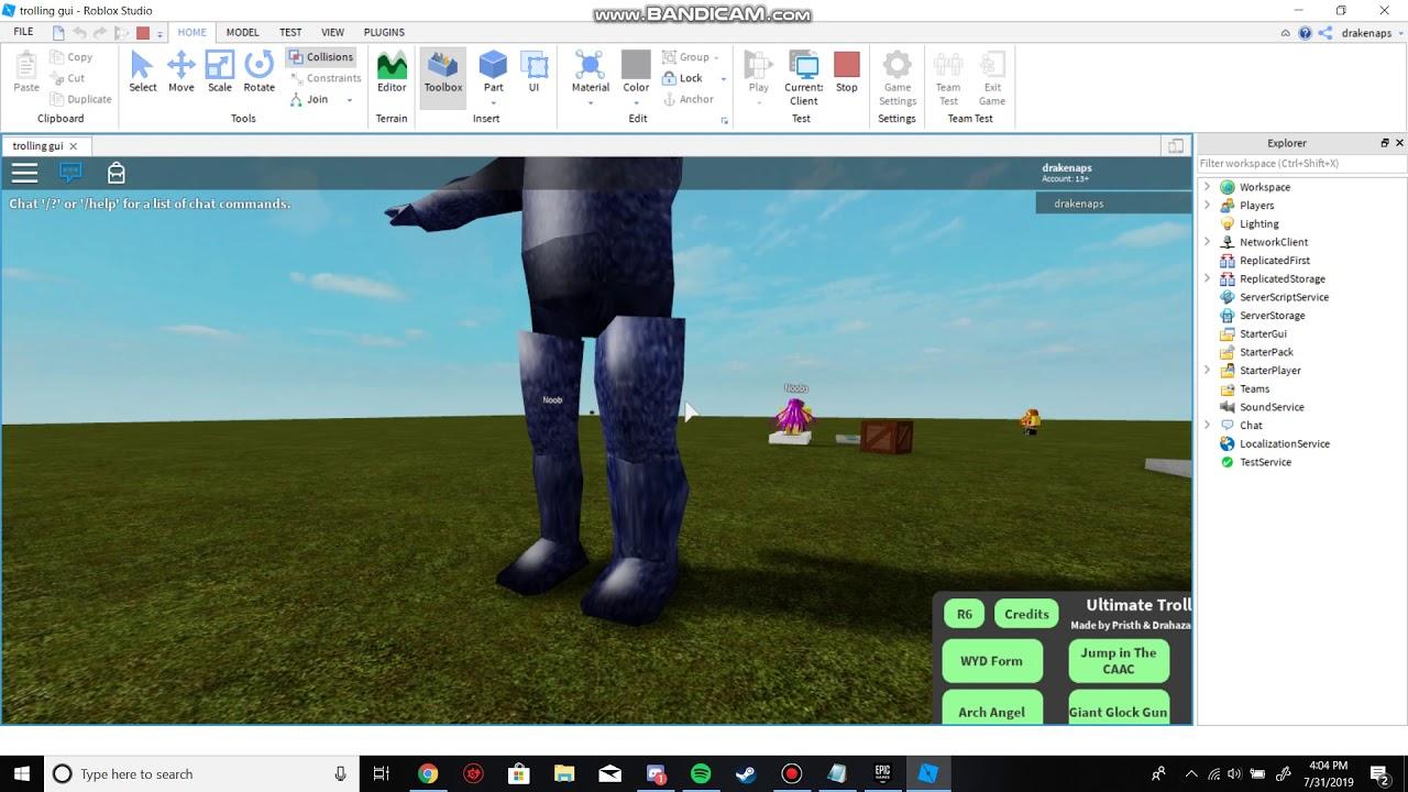 Developer Console Commands Roblox Roblox Ultimate Trolling Gui Dev Console