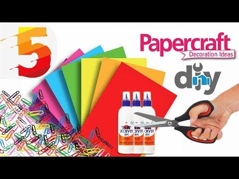 5 Awesome Craft Idea with Paper | Paper Craft for home decoration | Room decorating ideas With Paper
