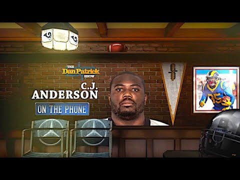 CJ Anderson Talks Joining Rams, Facing Saints & More w/Dan Patrick   Full Interview   1/15/19
