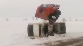 Truck Crash Compilation March 2016