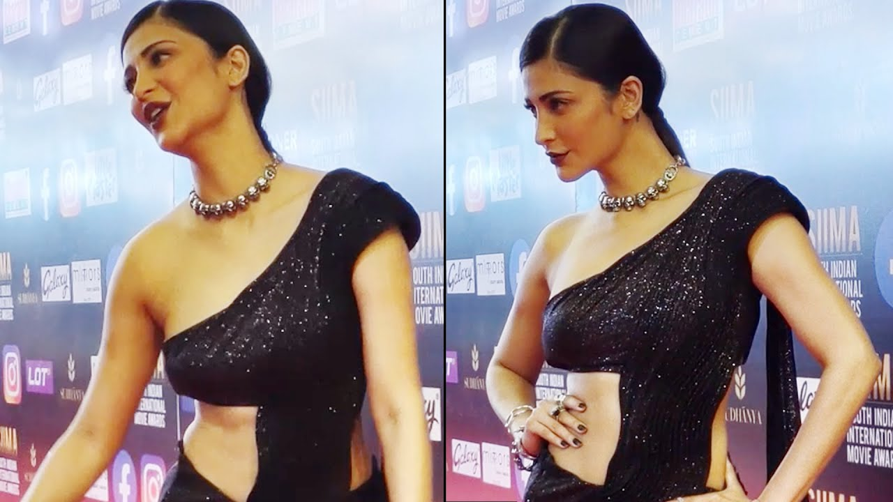 Download Shruti Haasan Gorgeous Looks In Black Dress At SIIMA Awards 2021| Daily Culture
