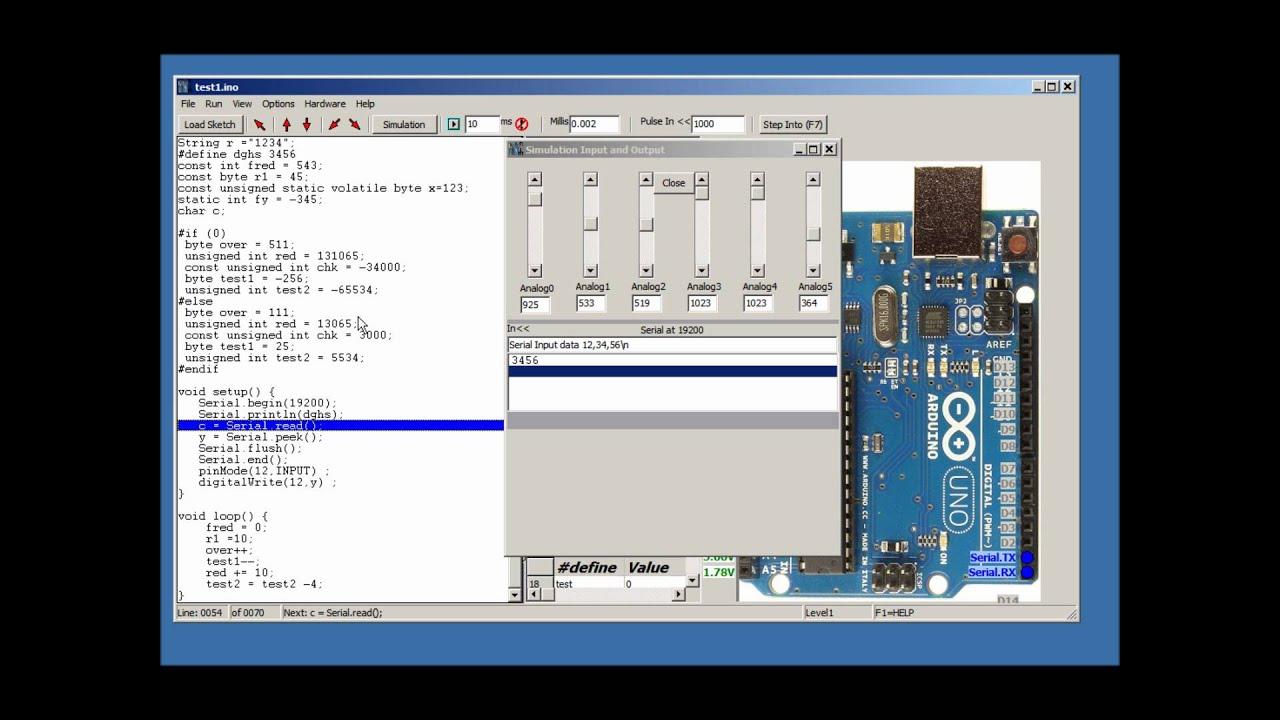 Simulator for arduino v stepper eeprom millis and
