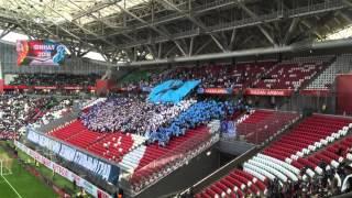 """Перформанс от фанатов """"Зенита"""" на """"Казань Арене"""""""