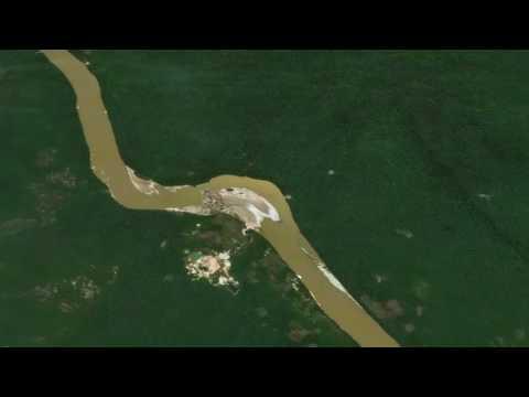 Mineria en el río Caroní - Mining along Caroní river - Guayana, - Venezuela