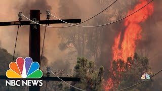 'Firenado' Spins In California As Firefighters Battle Blazes Across The State   NBC Nightly News