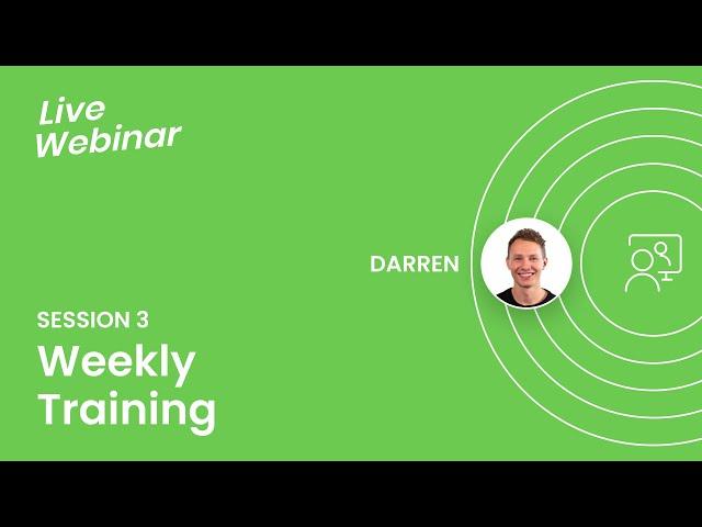 Weekly Seller Training 3 - 11/15/19