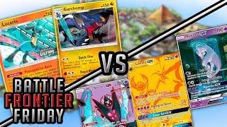 Lucario Garchomp vs Lunala/Dawn Wings Necrozma Pokemon TCG Matchup | Battle Frontier Friday #42