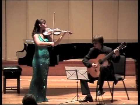 Nazrin Rashidova and Stanislav Hvratchilkov | Paganini - Sonata in E minor (2004)