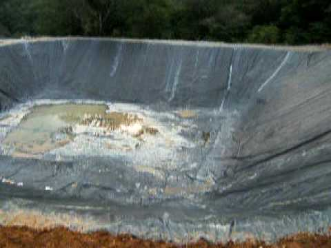 Chassoul Gold Mine (Costa Rica) - Tailings pond completed