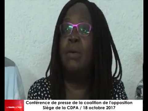 La coalition de l'opposition fait le point de la journée à travers une conférence de presse