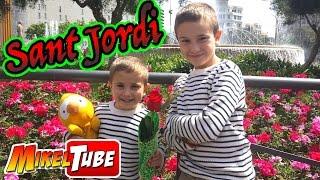 SANT JORDI en las Ramblas de Barcelona Vlog. MikelTube