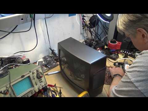 CRT TV over voltage shutdown fault