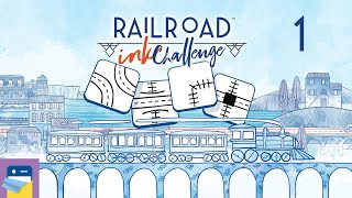 Railroad Ink Challenge: iOS/Android Gameplay Walkthrough Part 1 (by Horrible Guild)