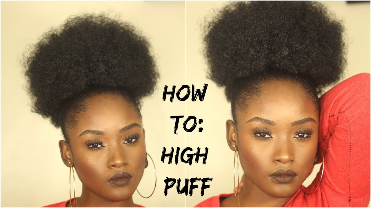 How To High Puff Ponytail On Natural 4c Hair Instant Glitz